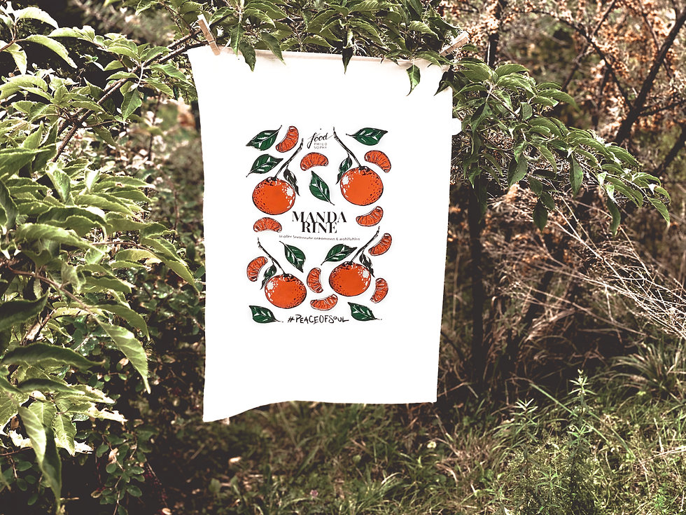 Geschirrtuch Mandarine Food Philosophy Melanie Brombacher