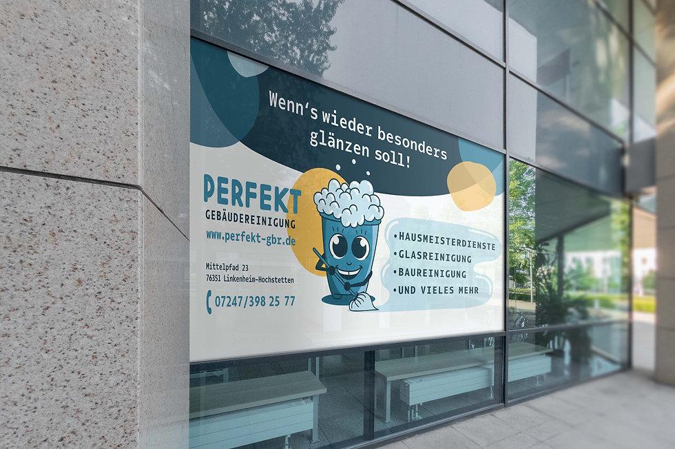 Plakatwerbung Gebäudereinigung
