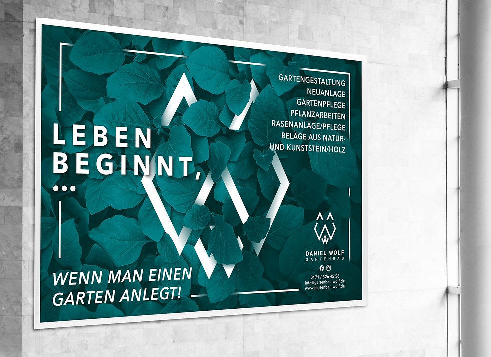 Bauplane Werbebanner Werbung Plakat Daniel Wolf Gartenbau