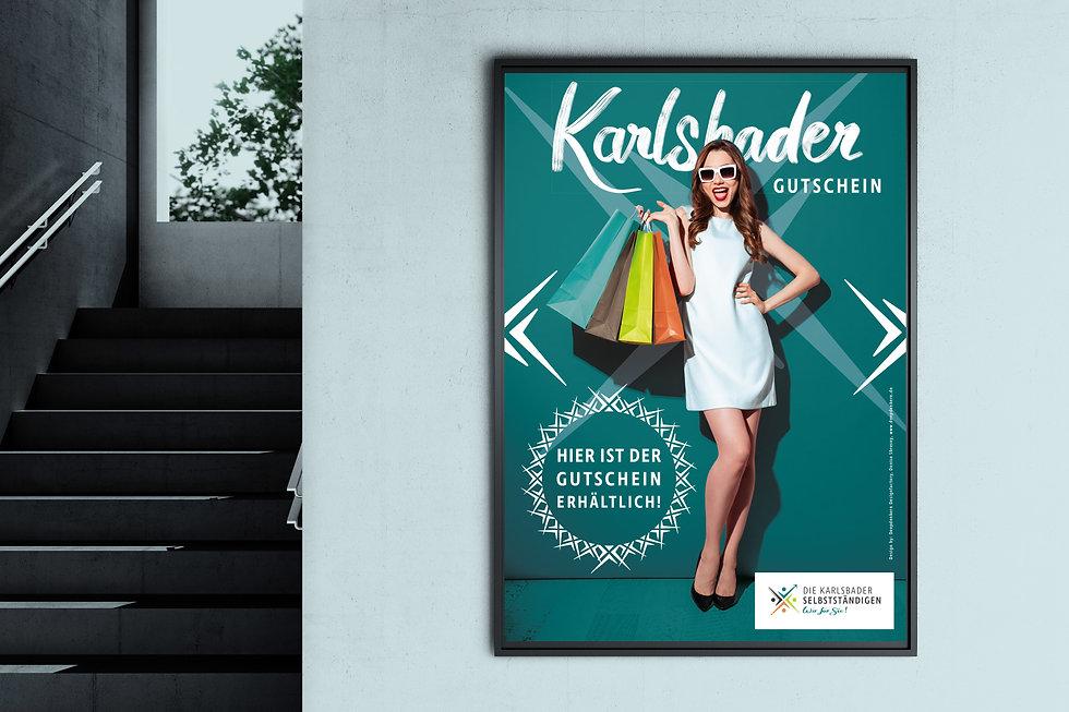 Karlsbader Selbstständige Logo Plakat Karlsbader Gutschein Karlsbad