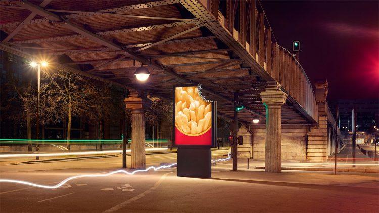 "McDonalds ""Bitten billboards"" campaign"