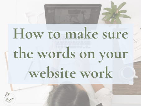 How to make sure the words on your website work