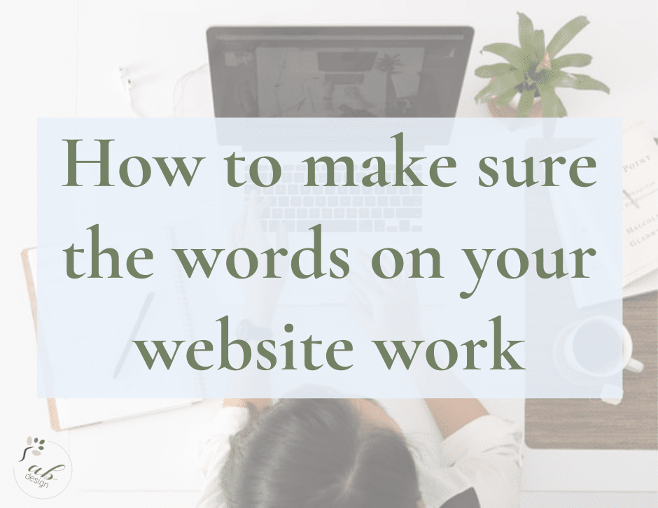 How to make sure the words on your website work blog header