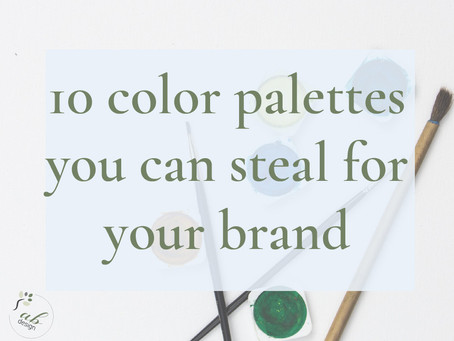 10 color palettes you can steal for your brand