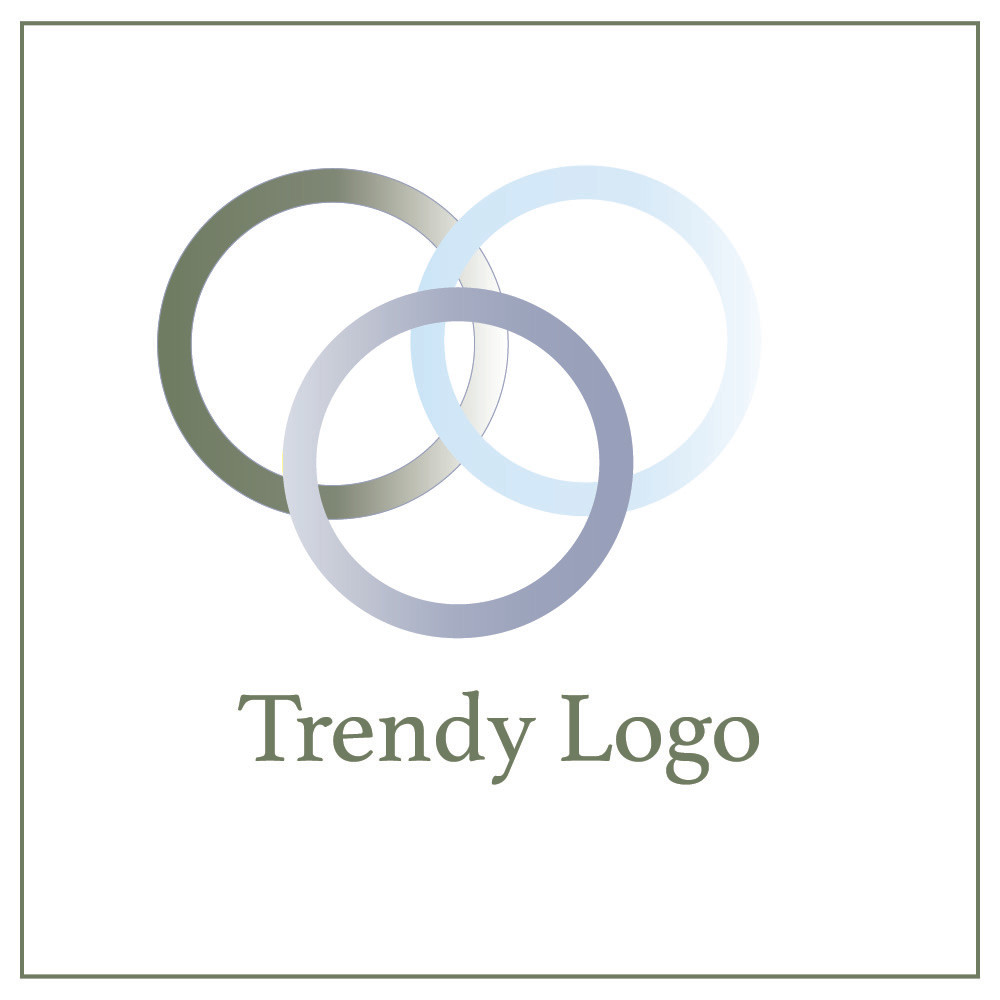Trendy logo example with multiple gradients