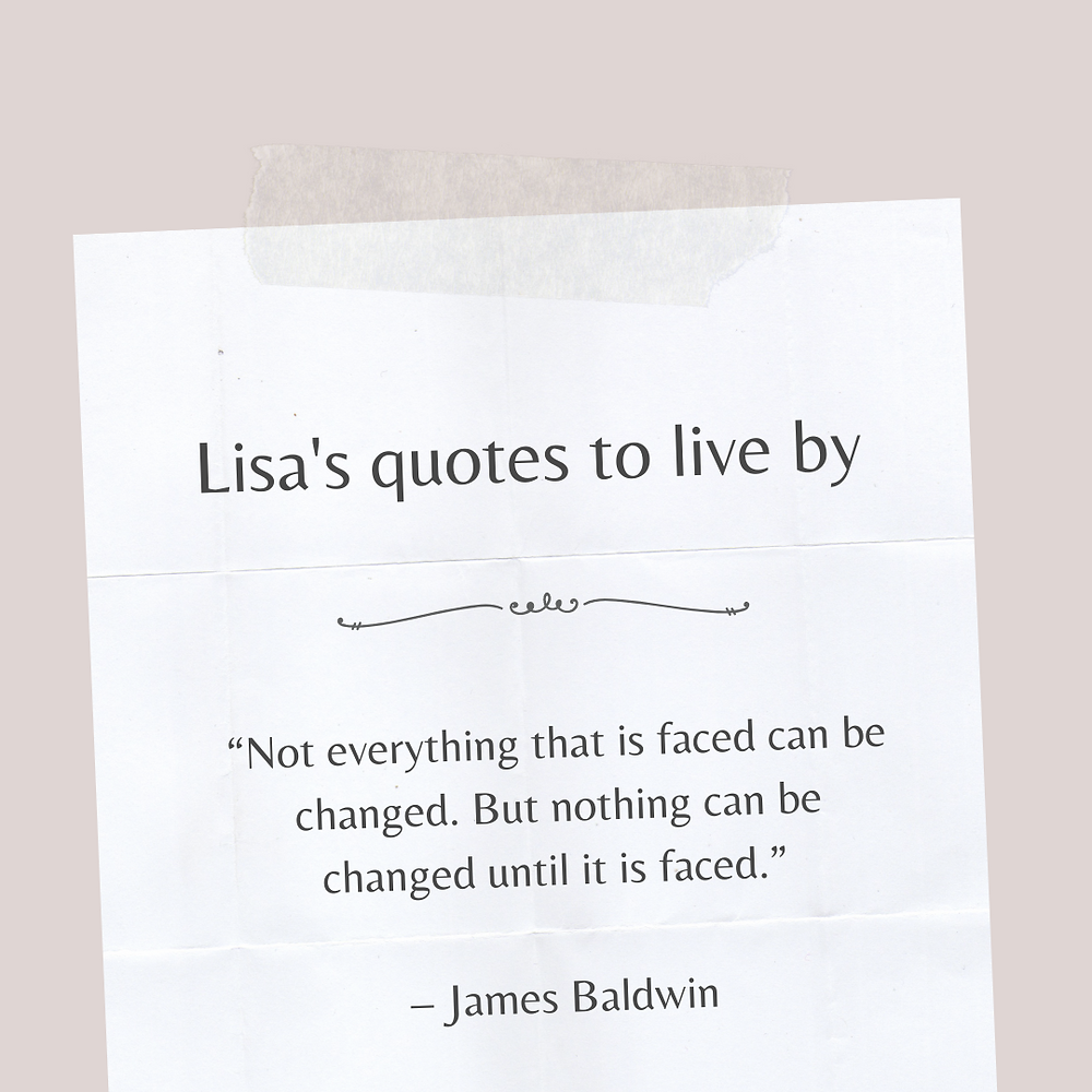 James Bladwin quote on facing what needs to be changed