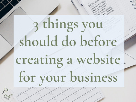 Do these things before creating a website for your business