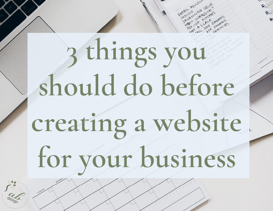 three things you should do before creating a website for your business