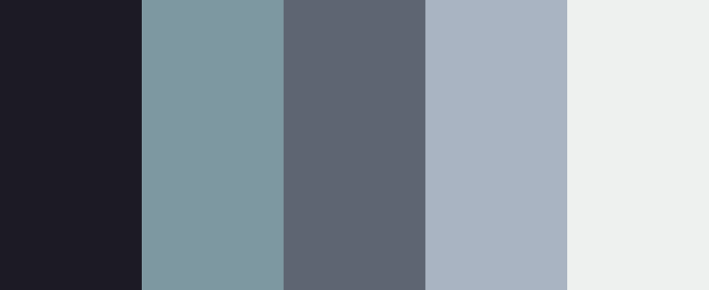 Monochromatic blues color palette