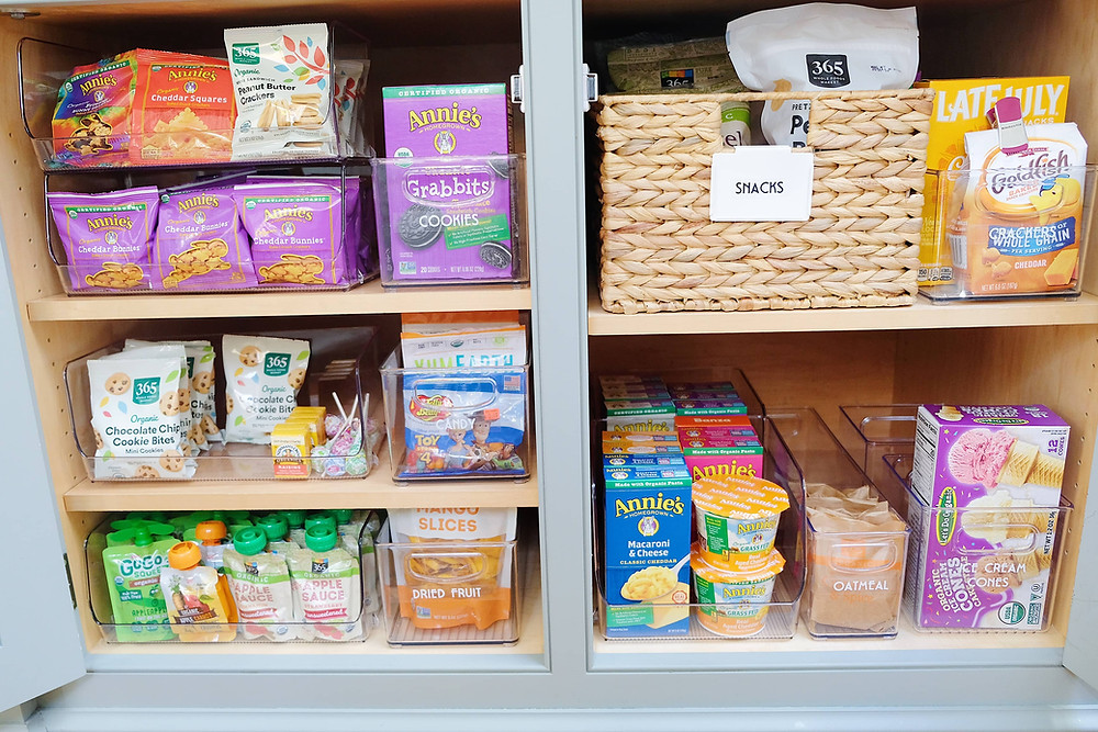 Organized pantry stocked for the new year