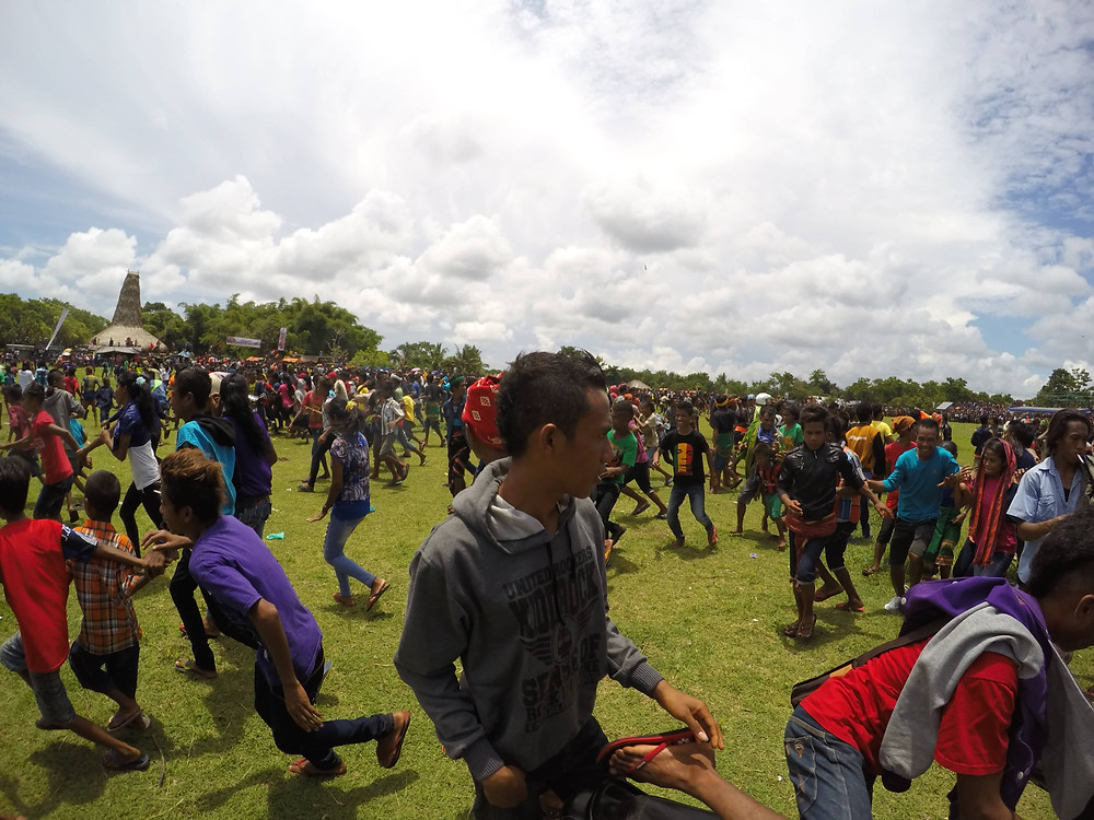 Chaos erupts at the Pasola festival