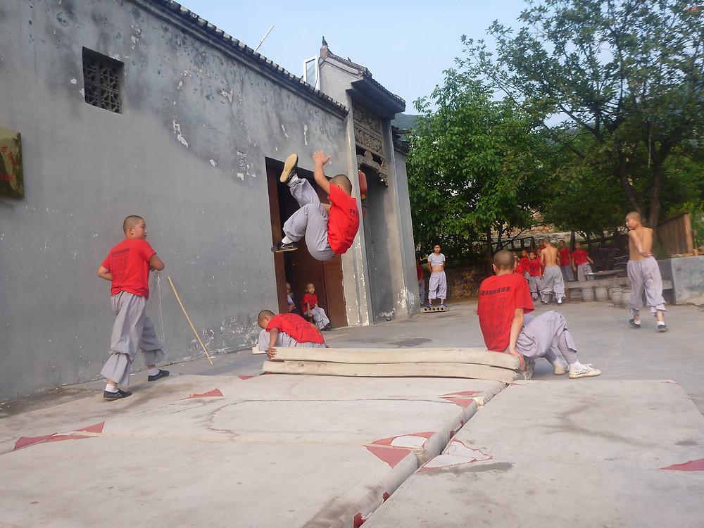 Kids training at the Shaolin Monastery