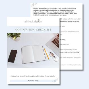 Copywriting Checklist