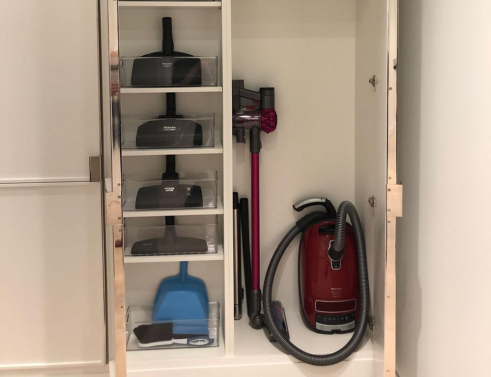 Meile Vacuum in a closet