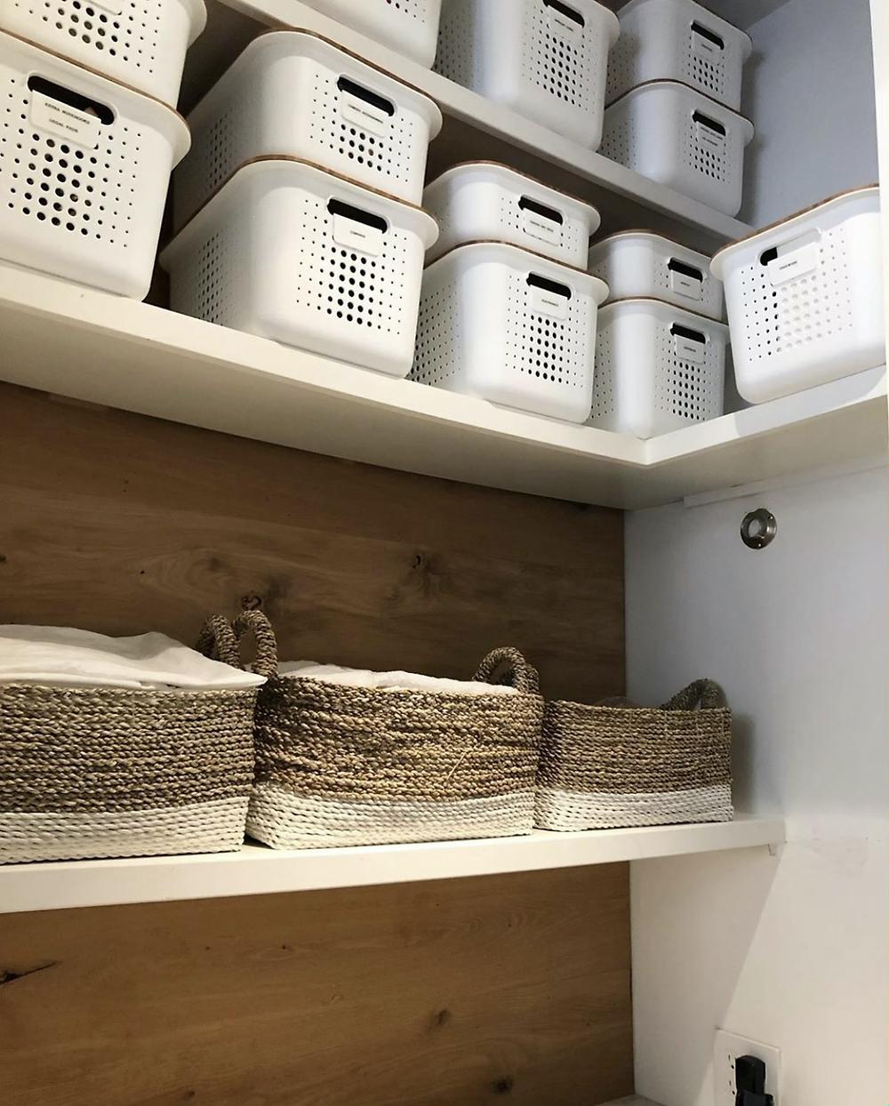 White nordic Storage Baskets