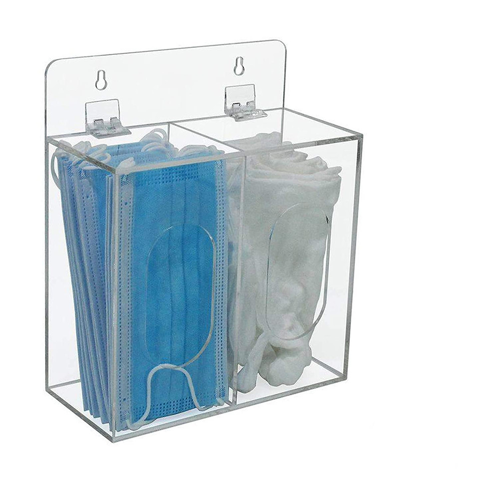 two-compartment acrylic organizer