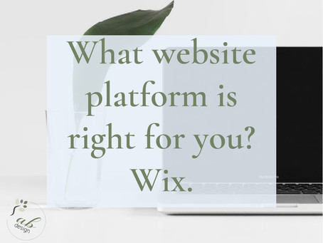 Part 2: Which website platform is right for your business. Wix