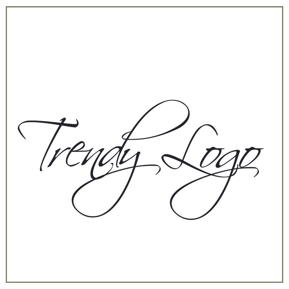 Trendy logo example with overlapping letters