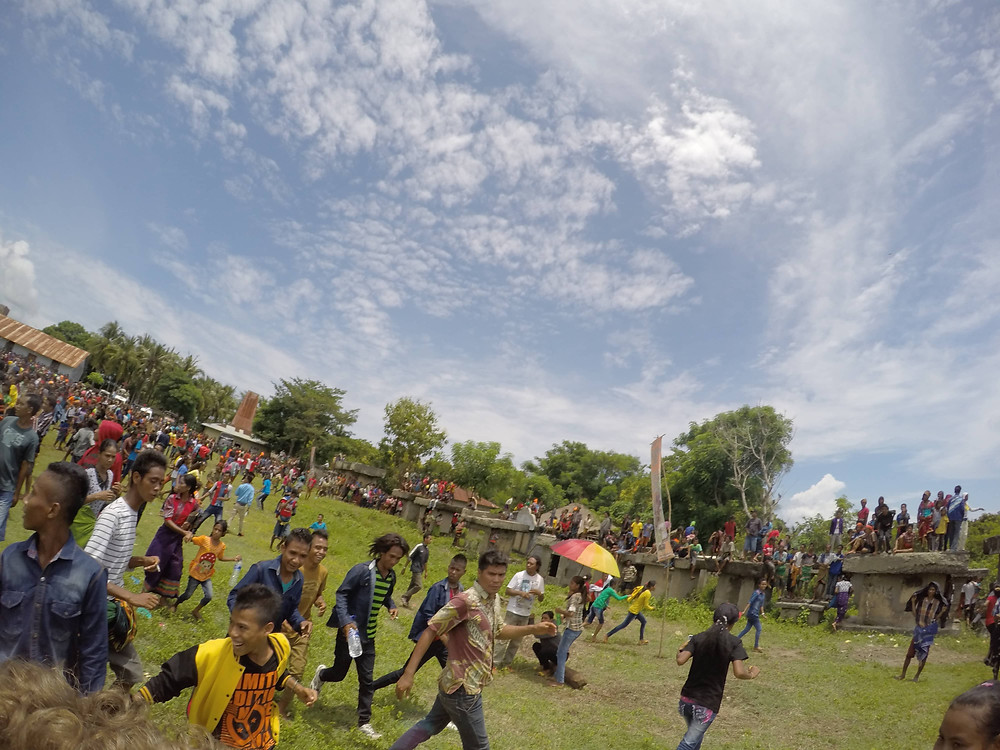 The festival calmed down after the outbreak of violence