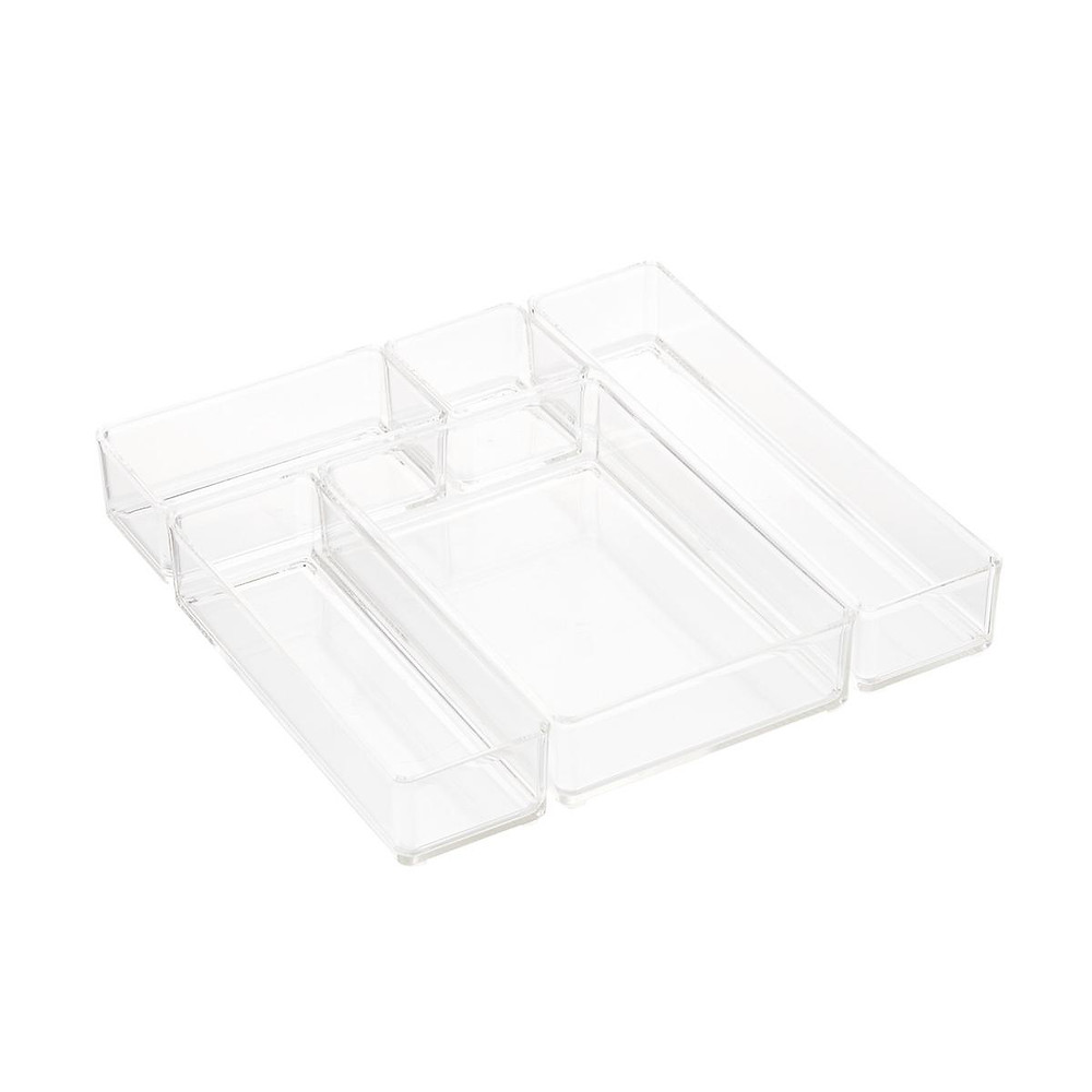 acrylic stackable drawer organizers