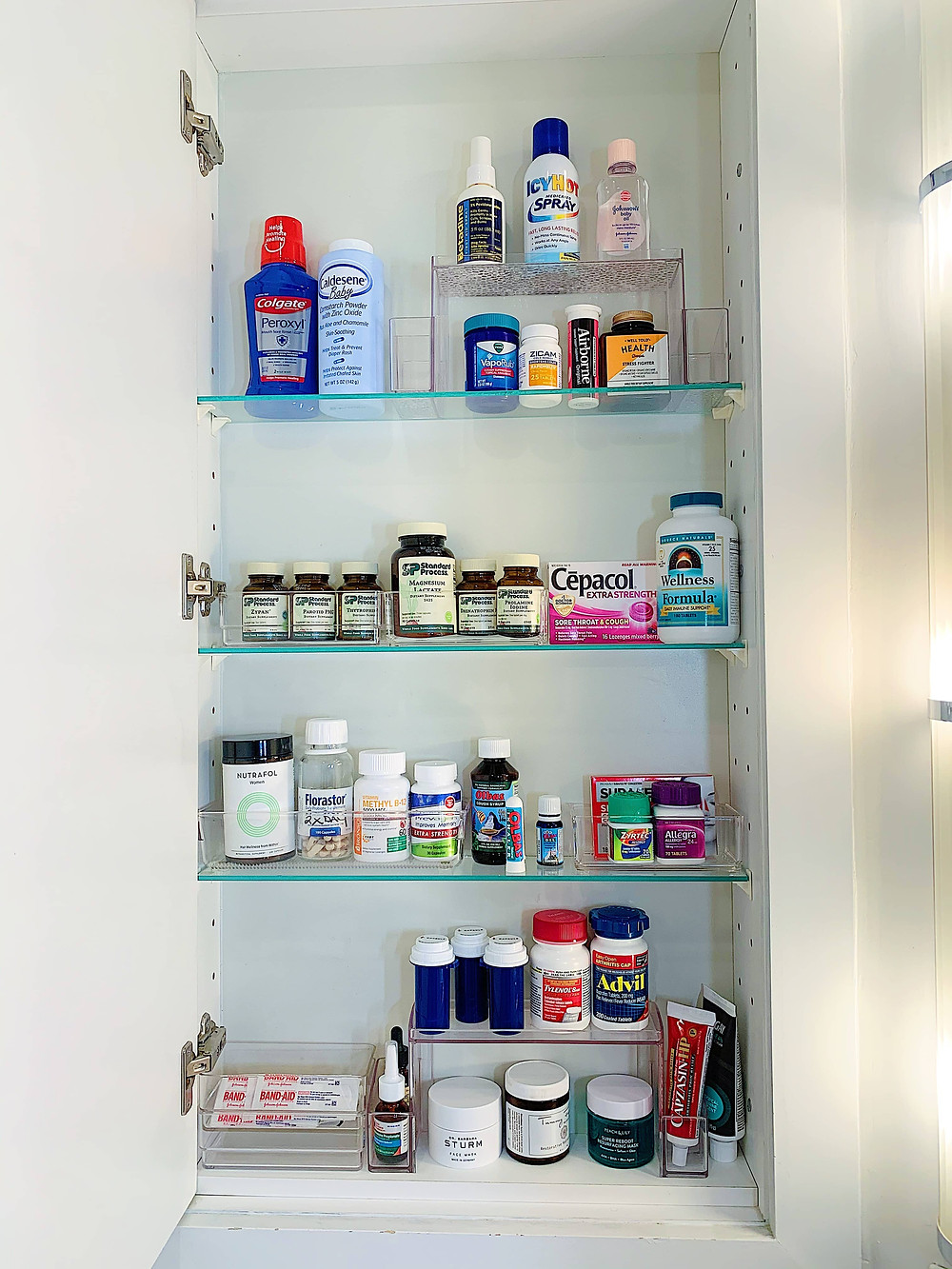 Makeup and Medicine Cabinet Two Tier Organizer