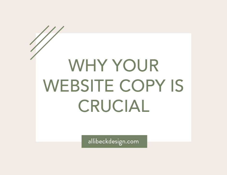 Why your website copy is crucial graphic