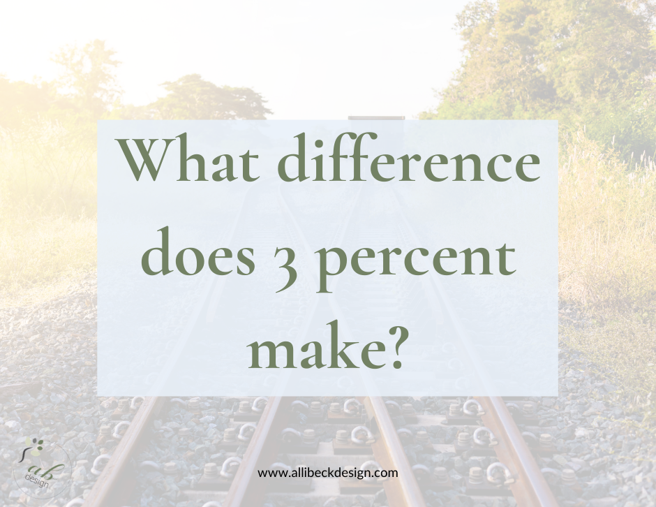 What difference does a 3 percent change make?