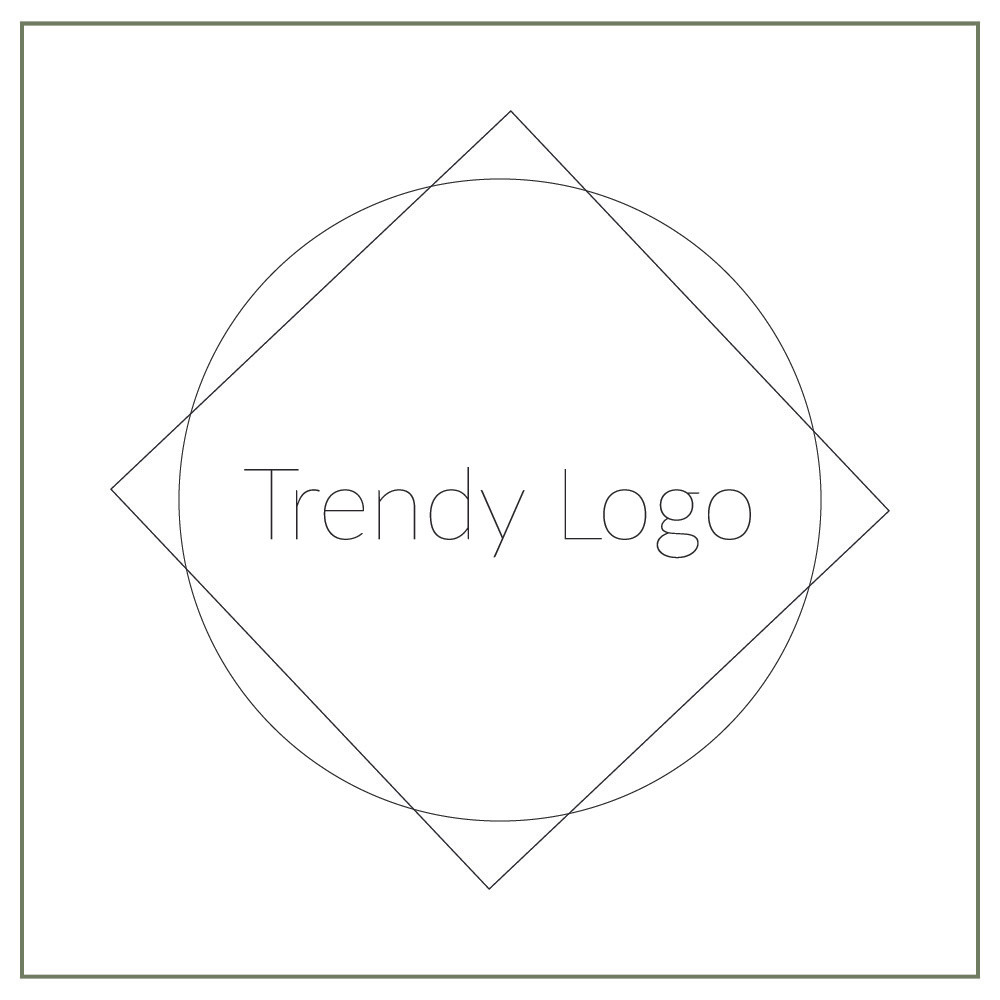 Trendy logo example with thin lines