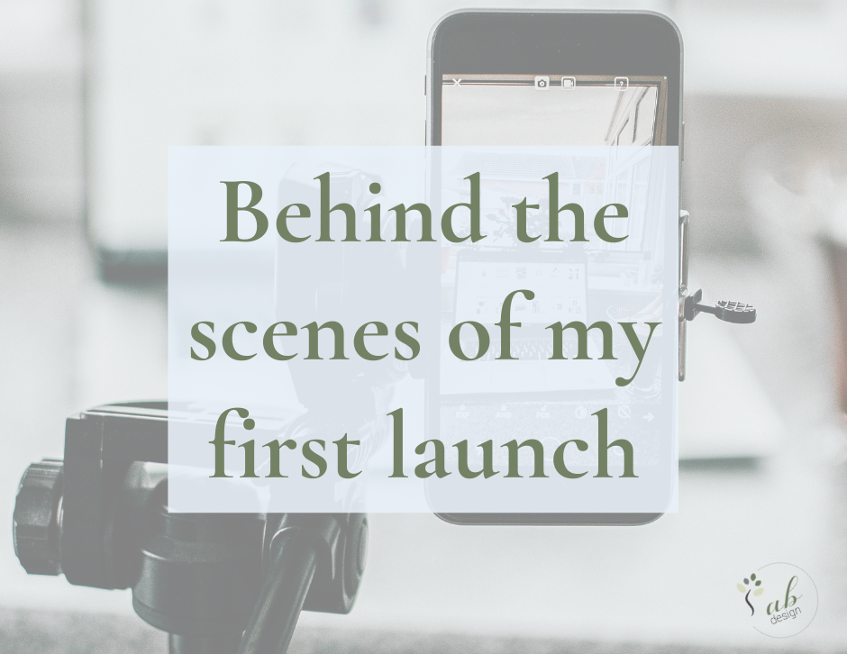 Behind the scenes of my first launch