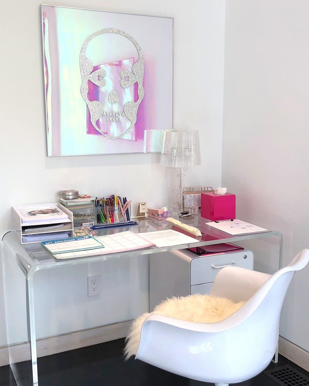 organized desk and workspace