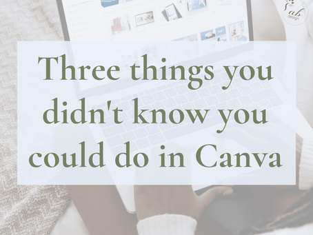 Three things you didn't know you could do in Canva