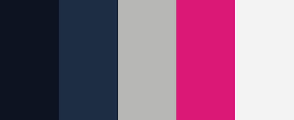 Naval meets feminine color palette