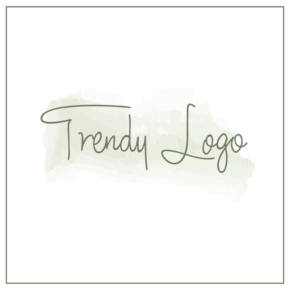 Trendy logo example with a watercolor background