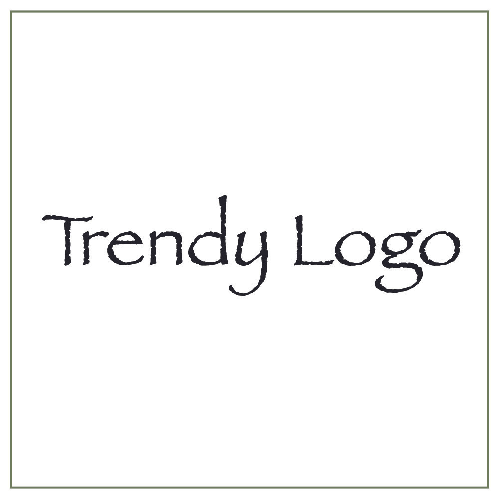 Trendy logo example with the cliche font Papyrus
