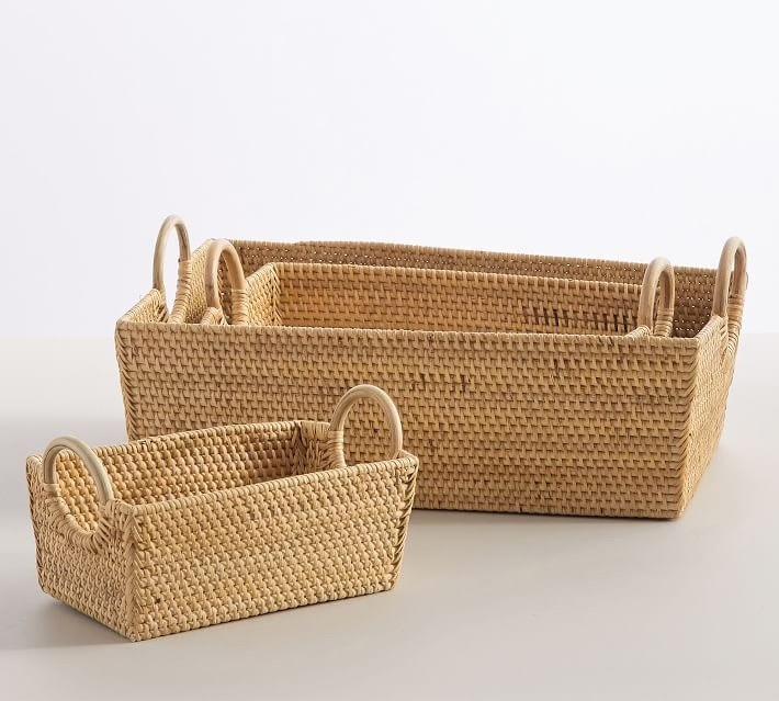 Woven Rattan Nesting Baskets