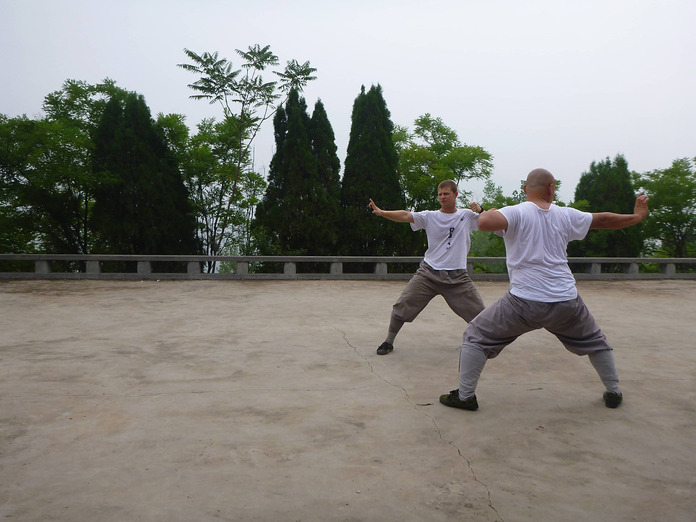 Ben in training at the Shaolin Temple