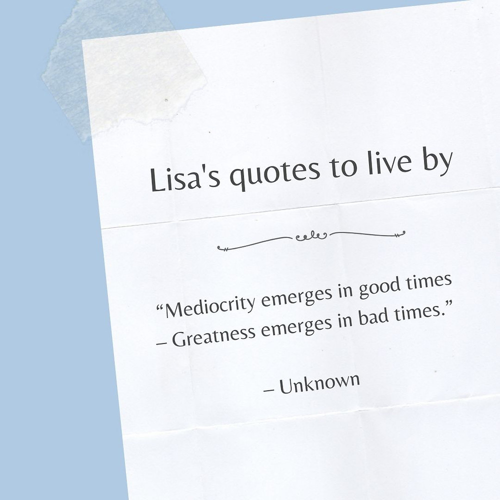 Mediocrity vs greatness quote