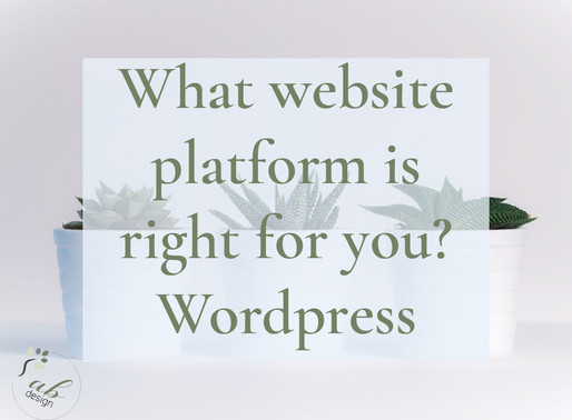 Part 1: What website platform is right for you? Wordpress.