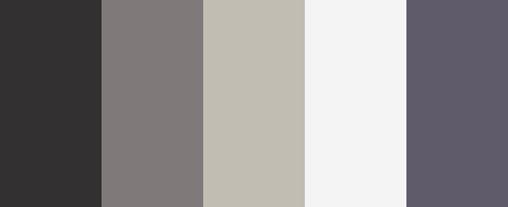 A slate of neutrals color palette