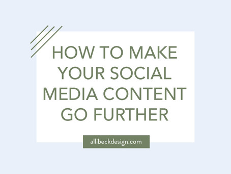How to make your social media content go further