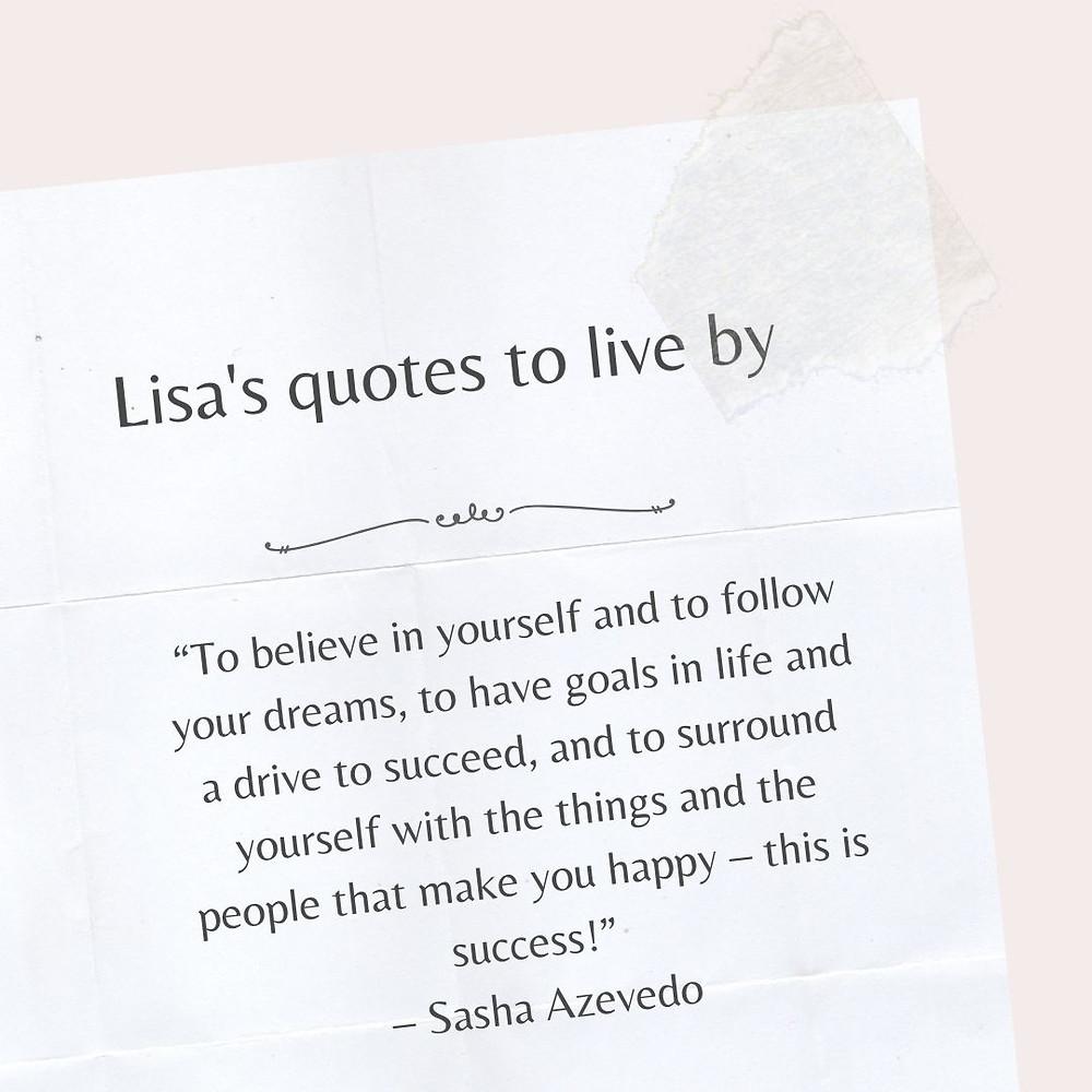 Sasha Azevedo quote