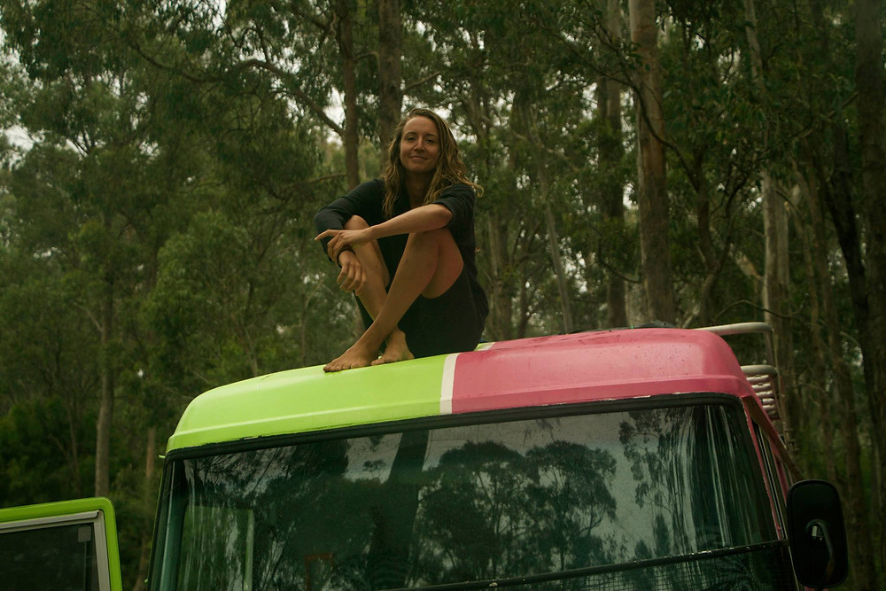 Yuli on the Platy-Bus