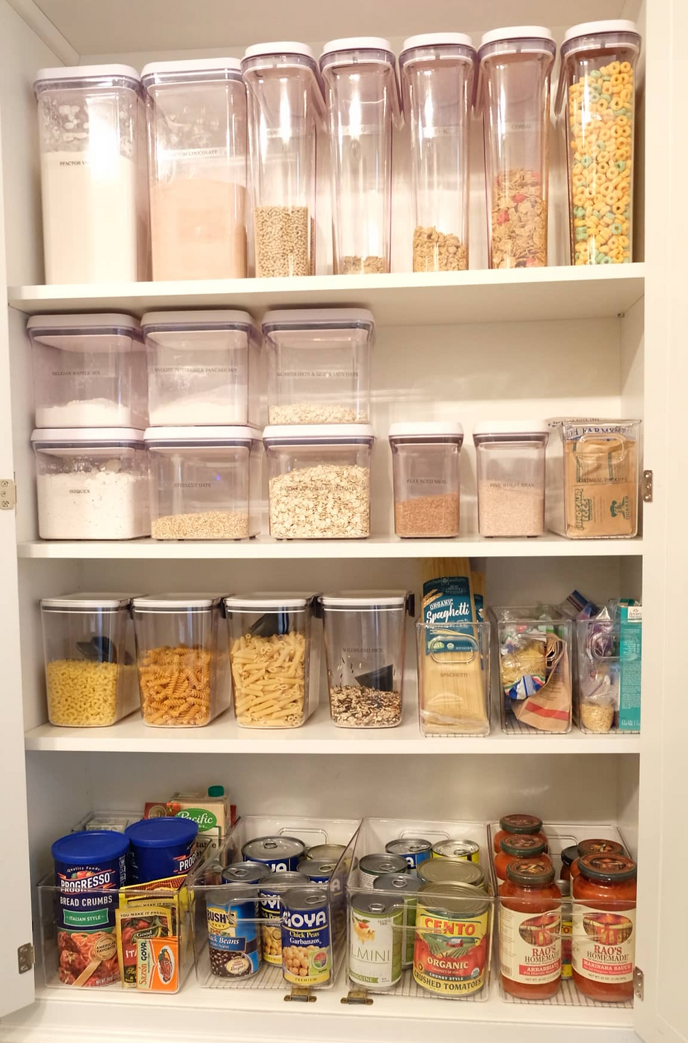 Oxo canisters for pantry organization