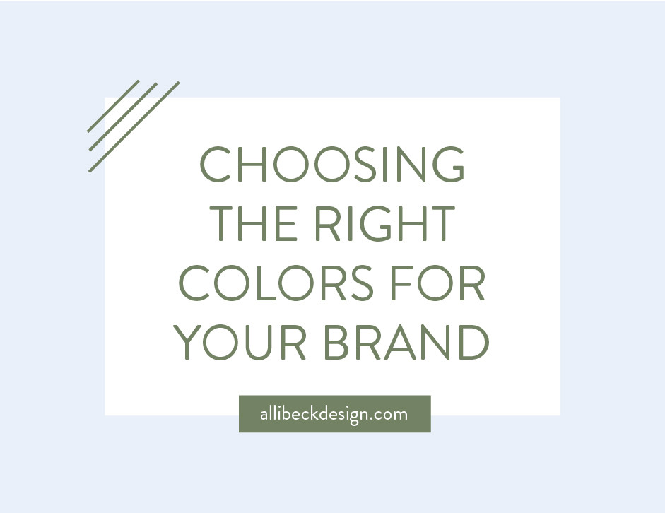 Choosing the right colors for your brand graphic
