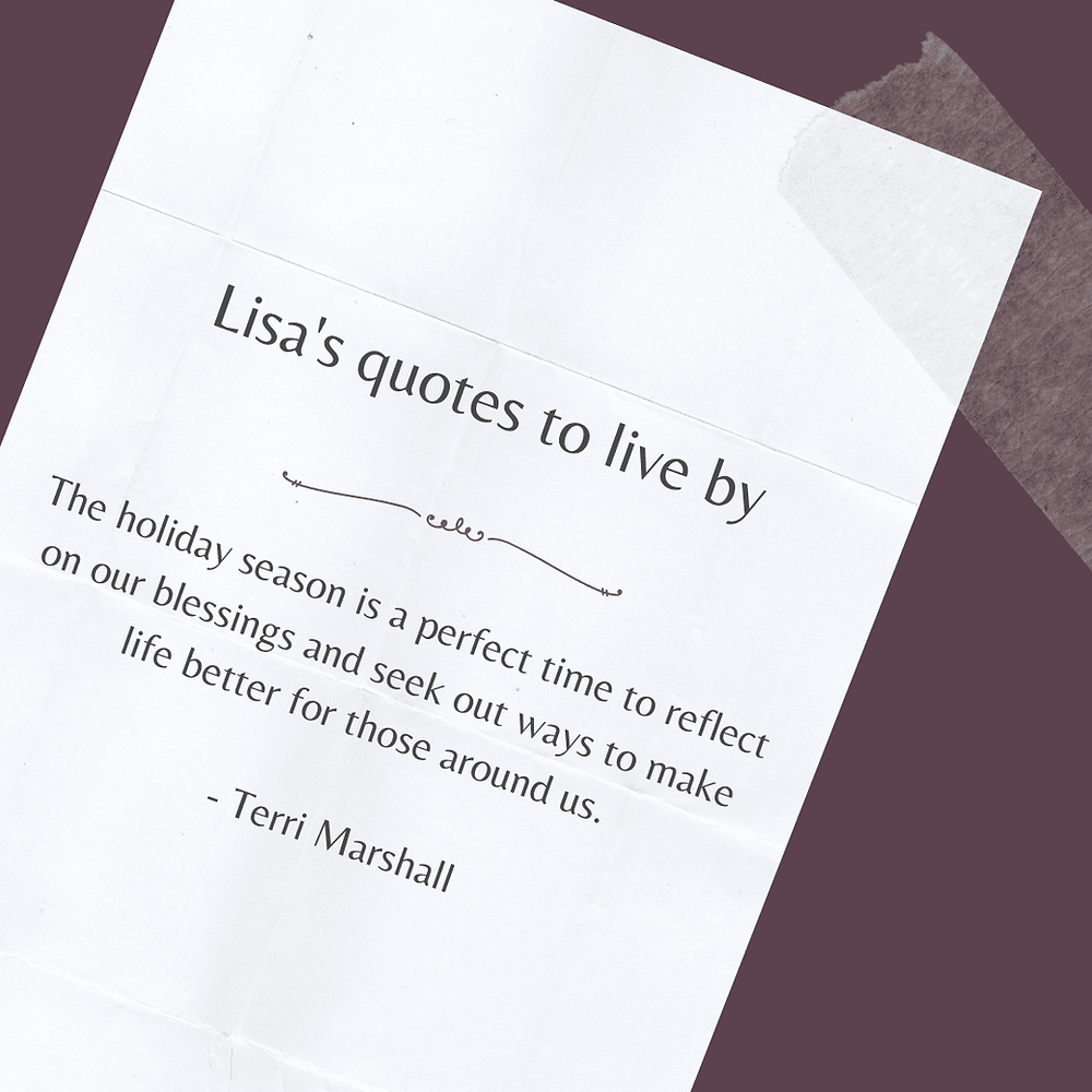 Holiday season quote by Terri Marshall