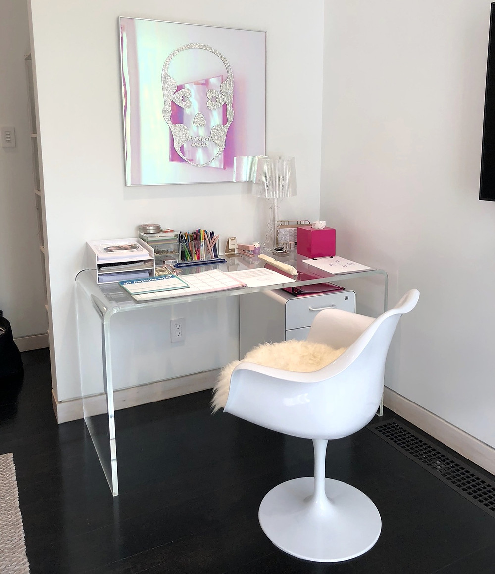 Organized desk for working from home