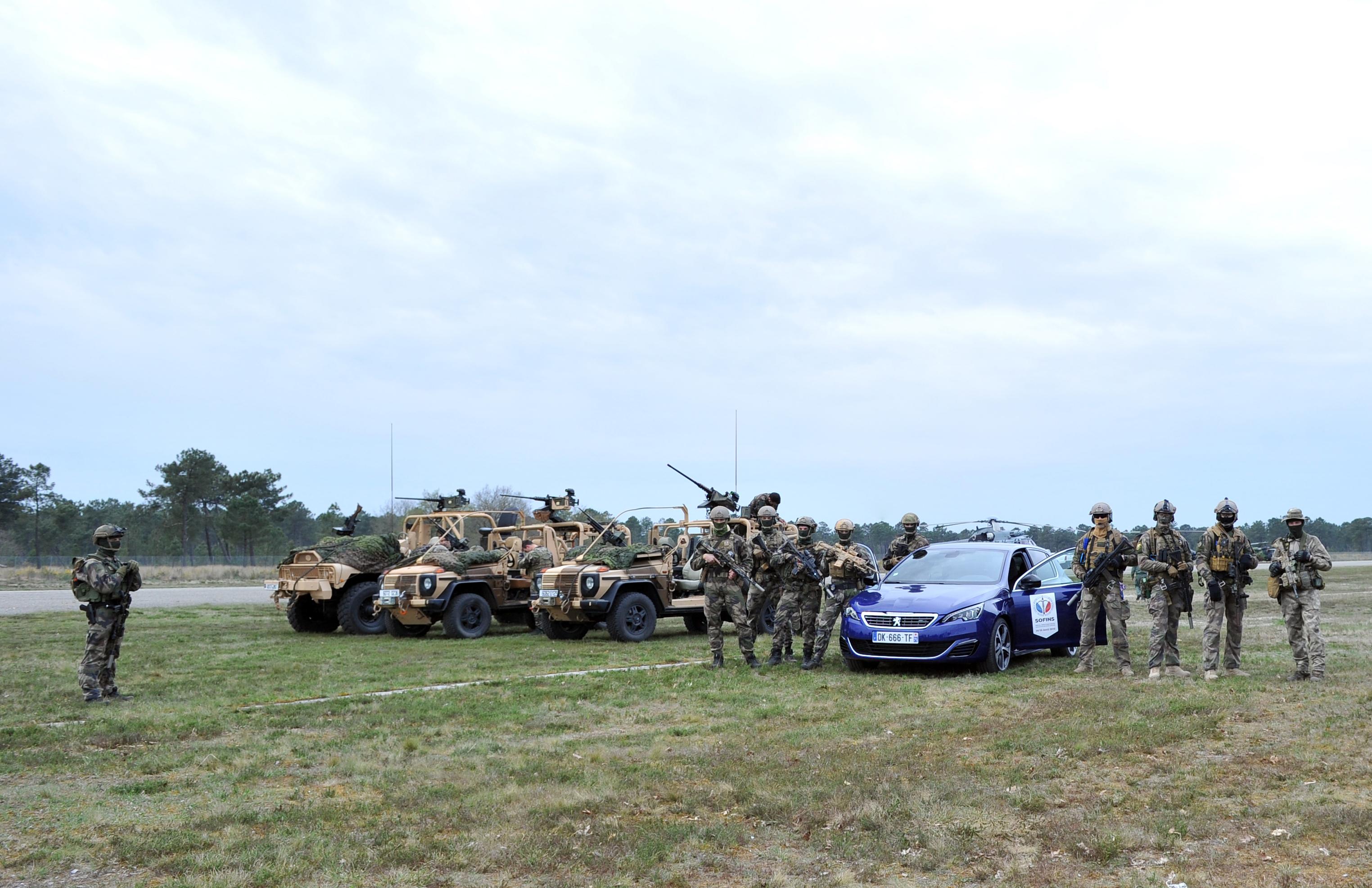 Forces spéciales Peugeot SOFINS 2015