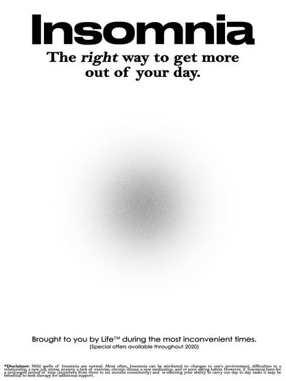 Insomnia Poster (White)