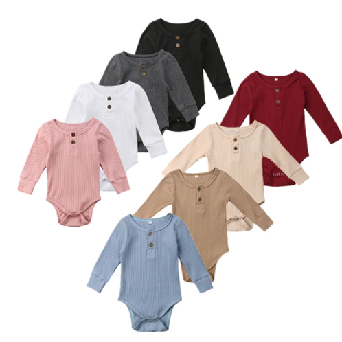 The Basic Collection Long Sleeve Romper 3-24m