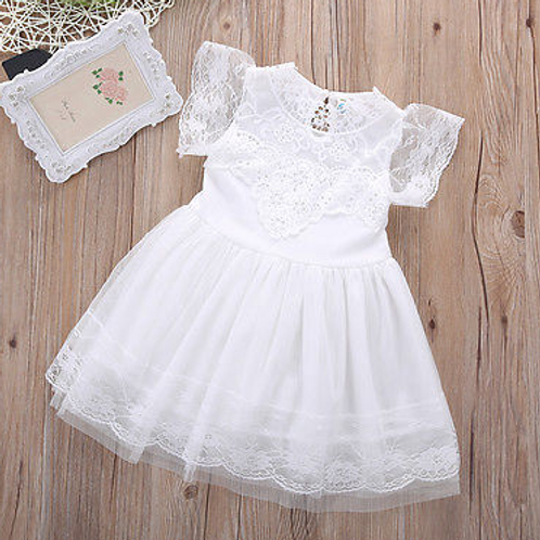 The Cara Anna Dress in White